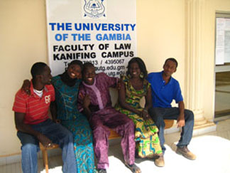Canadian drumming up support for Gambian law students