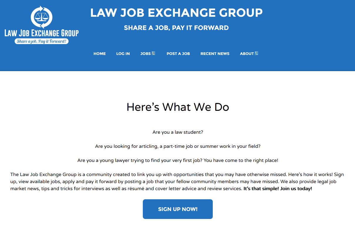 New job site launches for Canadian law students