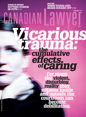 Vicarious trauma: the cumulative effects of caring