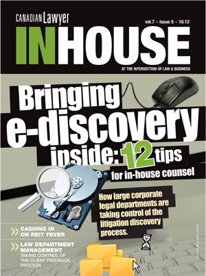Bringing e-discovery inside: 12 tips for in-house counsel