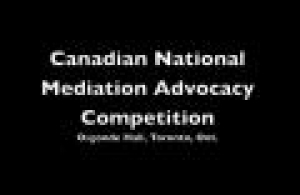 Mediation Advocacy Competition
