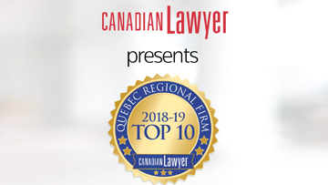 TEASER: Top 10 Quebec regional law firms 2018-2019