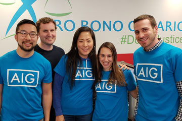 AIG lawyers show they can serve up pro bono on demand