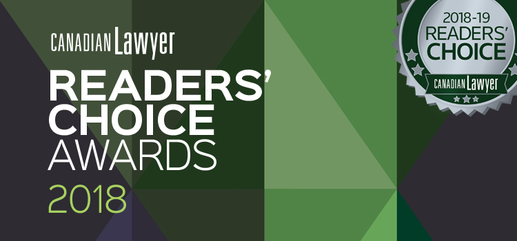 2018 Canadian Lawyer Readers' Choice Awards