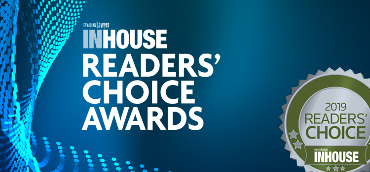 2019 Canadian Lawyer InHouse Readers' Choice Awards