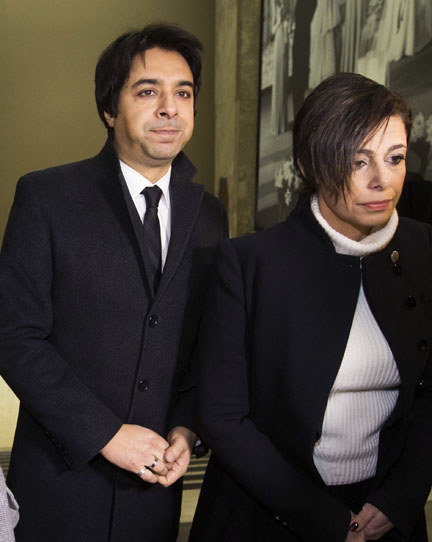 Jian Ghomeshi and his lawyer Marie Henein arrive at the College Park courthouse in Toronto Thursday.(Photo: Mark Blinch/Reuters)