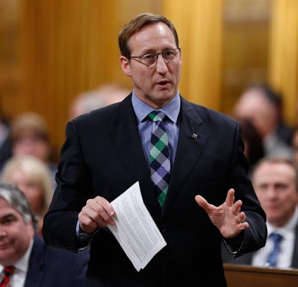 Peter MacKay in the House of Commons in February. (Photo: Chris Wattie/Reuters)
