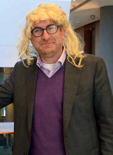 Osgoode law dean Lorne Sossin goes blonde for fun and to highlight the issue of access to justice.