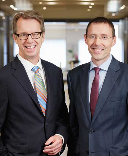 Peter Lukasiewicz, chief executive officer of Gowling WLG (Canada) LLP, and counterpart David Fennell, chief executive of Gowling WLG (UK) LLP.